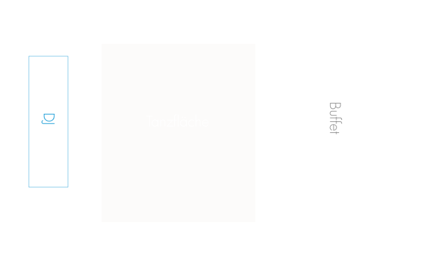 Nutzungsvariante Luitpoldzimmer in der Schlosswirtschaft Schwaige