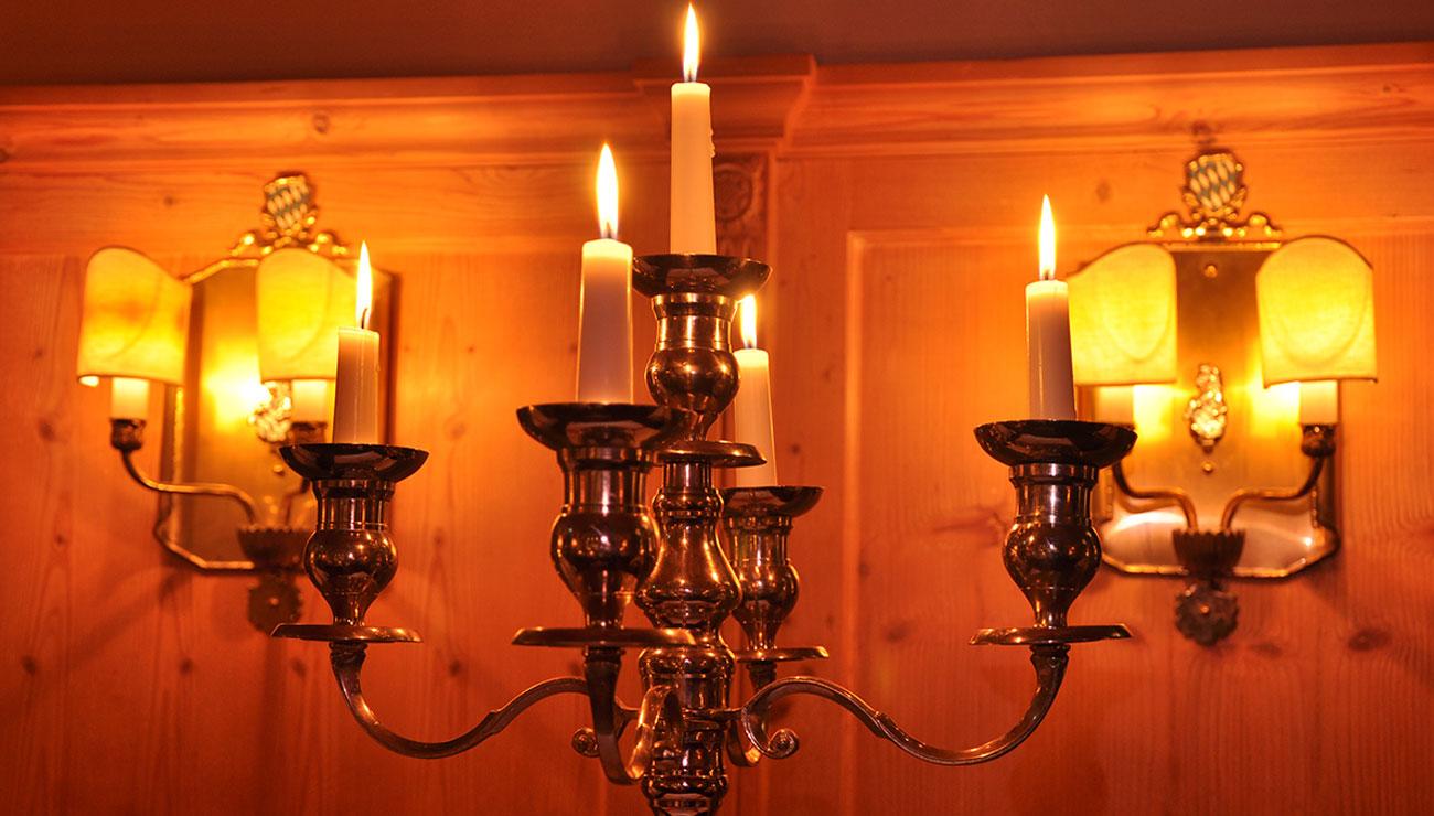 Candle Light Dinner in der Schlosswirtschaft Schwaige, München